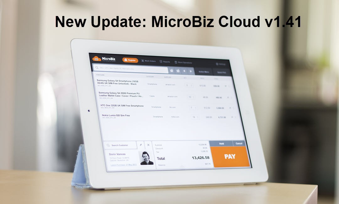 August 2016 – Overview of New Features Available in MicroBiz Cloud 1.41