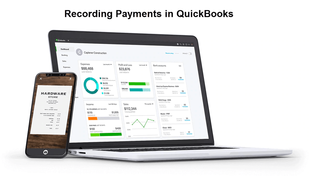 Receiving (Recording) Payments in QuickBooks Online