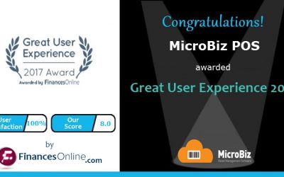 ​MicroBiz Wins 2017 Great User Experience Award from FinancesOnline!