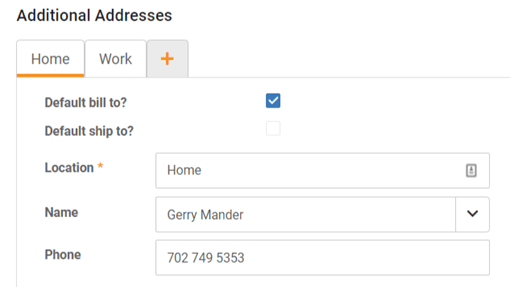Multiple Customer Addresses