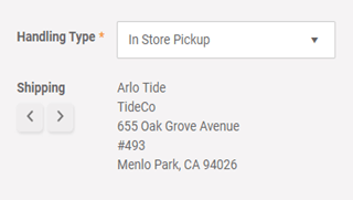 Calculating sales taxes based on customer ship address